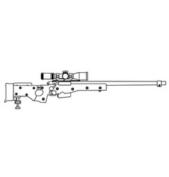 army sniper rifle vector image