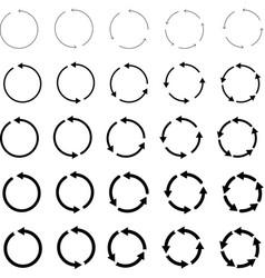 around cercle arrows vector image