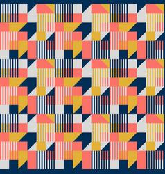 Bauhaus style geometric seamless pattern vector