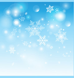 beautiful shimmering snowflakes vector image