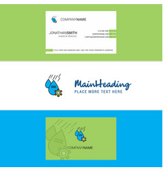 Beautiful water control logo and business card vector