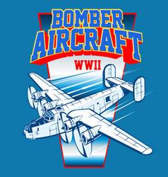 Bomber aircraft vector