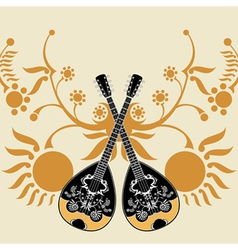 bouzouki composition vector image