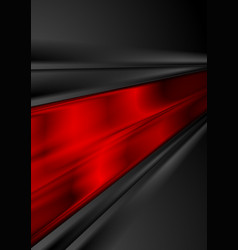 bright red and black glossy stripes abstract vector image