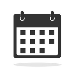 calendar icon in trendy flat style on white vector image