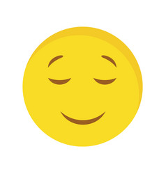 Calm emoji icon vector