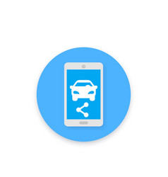 carsharing icon for apps and web vector image