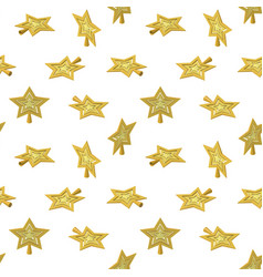 Christmas star tree topper pattern vector