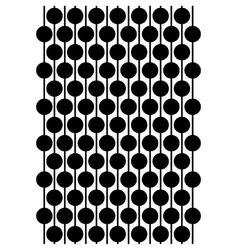 Circles on a string block pattern vector