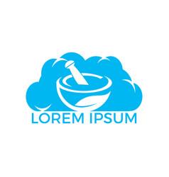 Cloud pharmacy medical logo design vector