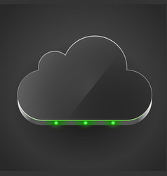 cloud technology computing concept led vector image