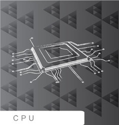 CPU backgroud abstact line brush vector image