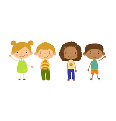 cute children different nationalities set vector image