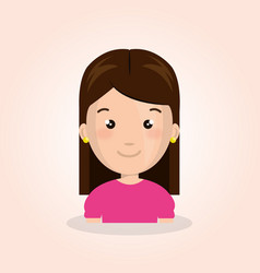 Cute little girl character vector