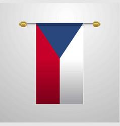 Czech republic hanging flag vector