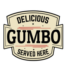 Delicious gumbo label or icon vector