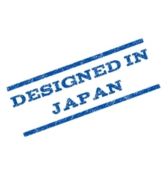 Designed In Japan Watermark Stamp vector