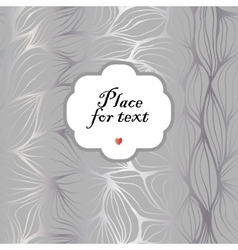 Doodle abstract ripples Background with a frame vector image