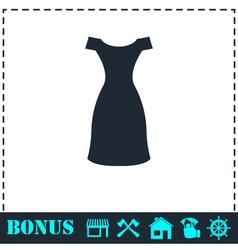 Dress icon flat vector image