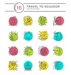 ecuador symbols vector image