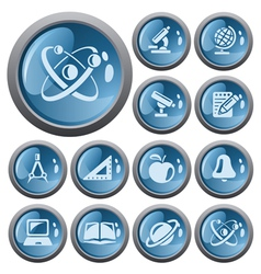 Education buttons vector image vector image