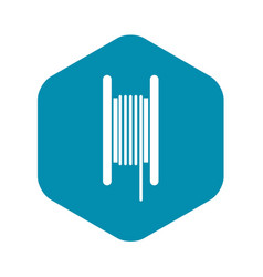 Electric cable in coil icon simple style vector