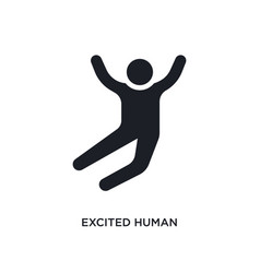 Excited human isolated icon simple element from vector