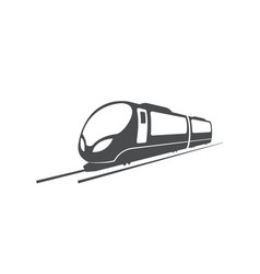 fast train locomotive railway transport symbol vector image