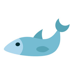 Fish flat on white vector