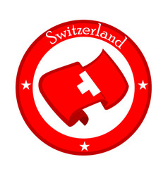 Flag of switzerland on a label vector