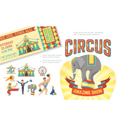 flat circus show concept vector image