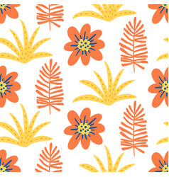 floral summer beautiful seamless pattern vector image