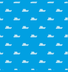 Great powerboat pattern seamless blue vector