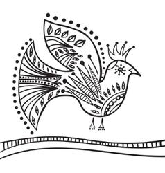 Hand drawing zentangle element Decorative vector