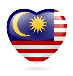 Heart icon of Malaysia vector