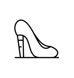 high heels line icon concept sign outline vector image