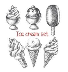 Ice cream set vector