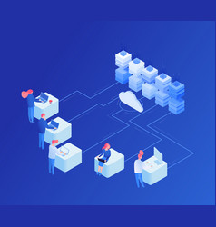 iot cloud service isometric vector image