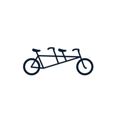 Isolated cycle icon flat design vector