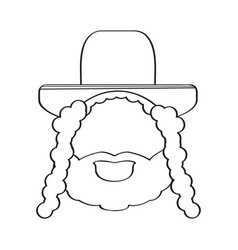 Isolated rabbi icon vector
