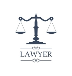 Lawyer icon justice scales emblem vector