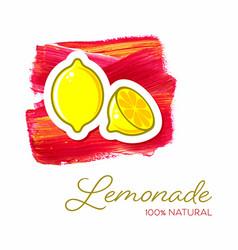 lemonade creative poster design vector image