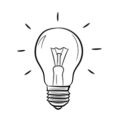 Light bulb on white background of vector image