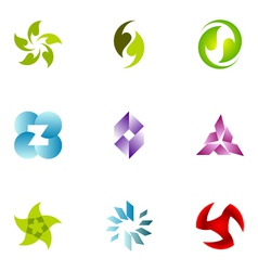 logo design elements set 50 vector image