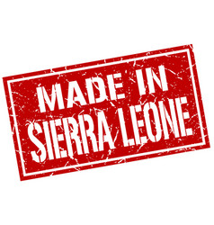made in sierra leone stamp vector image