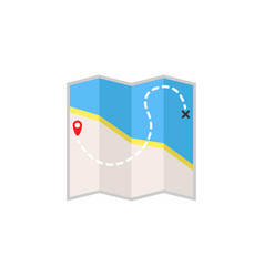 Map flat icon travel navigation vector