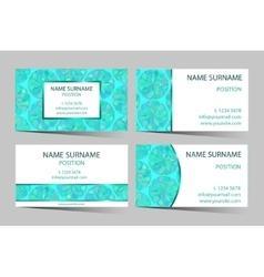Mint boho styled business-card set vector image