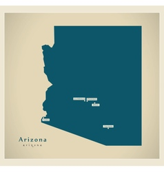 Modern Map USA Arizona vector image