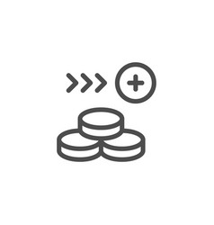 money line icon vector image