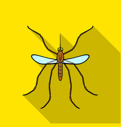 Mosquito icon in flat style isolated on white vector